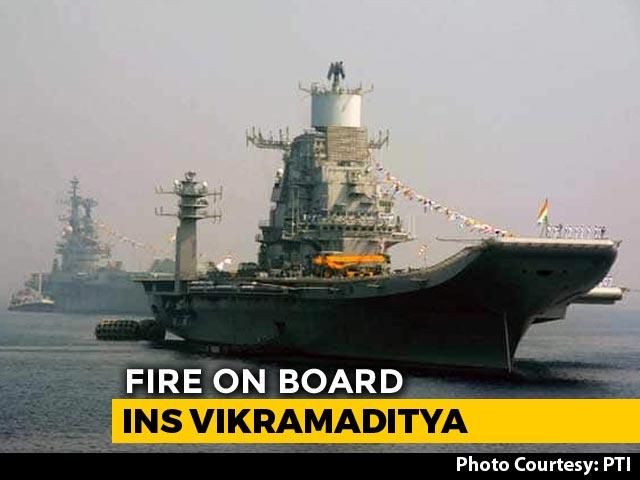Video : Naval Officer Dies In Fire Onboard INS Vikramaditya In Karnataka