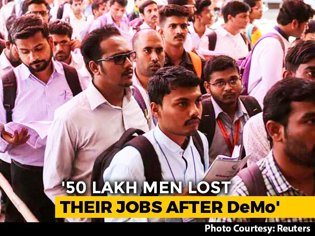 Video : 50 Lakh Lost Jobs Over 2 Years, Trend Began Just After Notes Ban: Report