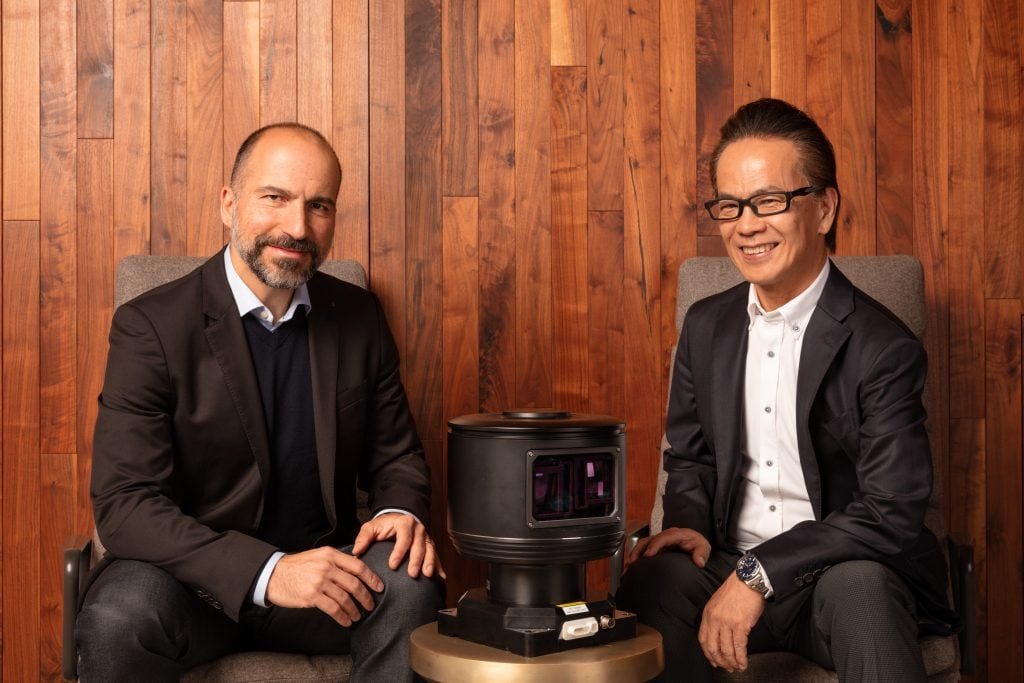 Dara Khosrowshahi, CEO of Uber & Shigeki Tomoyama, Executive Vice president Toyota signed the deal