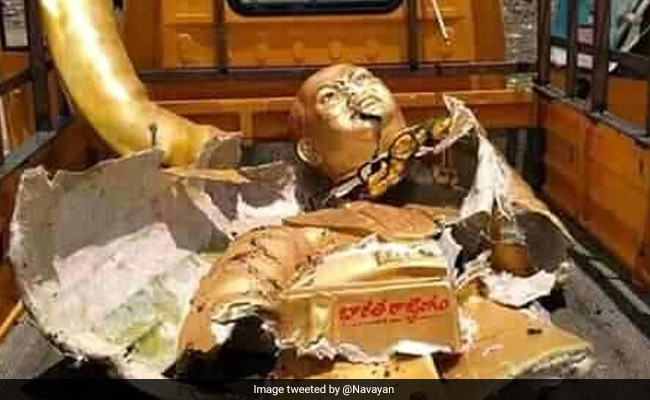 2 Arrested After Damaged Ambedkar Statue Found In Garbage Truck