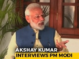 "Video : ""I Never Get Angry, It Surprises People,"" PM Tells Actor Akshay Kumar"