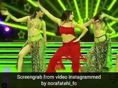 नोरा फतेही ने स्टेज पर किया धमाकेदार डांस, बार-बार देखा जा रहा दिलबर गर्ल का Video