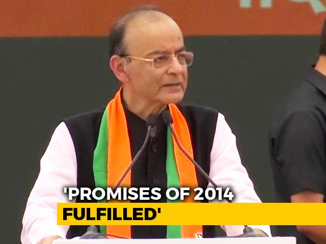 "Video : Manifesto ""<i>Not Of Tukde Tukde</i> Or Ivy League Mindset"": Arun Jaitley"