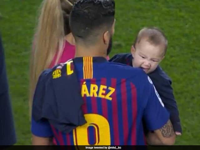 Watch: Luis Suarezs Son Bites Father On Shoulder To Bring Back Infamous World Cup 2014 Memories