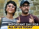 Video : Actor Aamir Khan Votes With A Message For Mumbai Voters