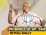 Video : PM Modi Raises VVIP Chopper Scam Charge-Sheet Naming 'AP', 'FAM' In Rally