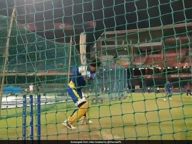 Watch: MS Dhoni Sends Warning To Rivals Ahead Of RCB Encounter With Big Hits In Nets