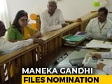 Video : Maneka Gandhi Files Nomination From Sultanpur Lok Sabha Seat