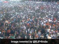 Thousands Of Mobile Phones Light Up PM Modi's Kerala Rally
