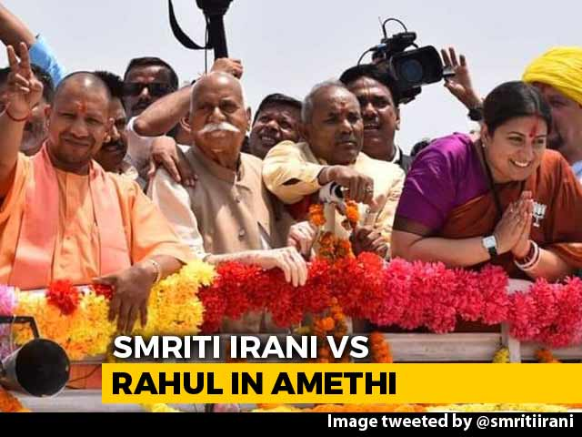 Video : Smriti Irani Traces Rahul Gandhi's Route In Amethi As She Makes A Point