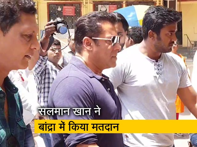 Videos : सलमान खान के साथ कई सितारों ने किया मतदान