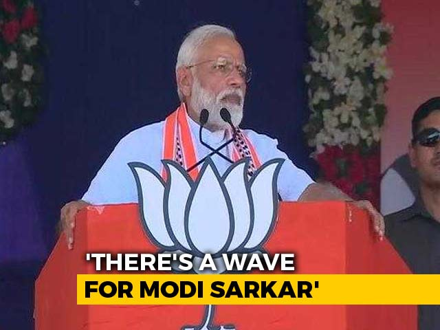 "Video : PM Says He Senses ""Modi Government Wave"" As Country Votes In First Phase"