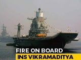 Video : Naval Officer Dies In Fire Onboard INS Vikramaditya In Karnataka