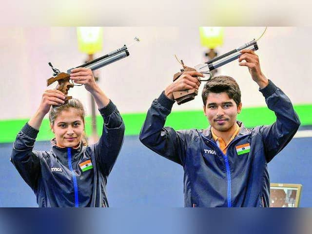 Manu Bhaker-Saurabh Chaudhary Win Gold in ISSF World Cup