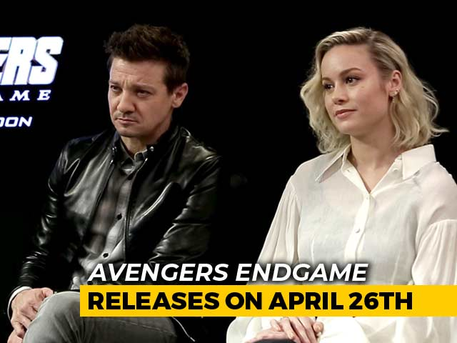 Video : Brie Larson & Jeremy Renner On <i>Avengers Endgame</i>, Fans & More