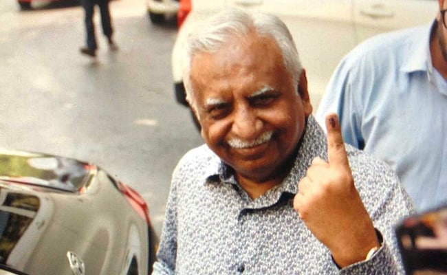 Election 2019: Naresh Goyal's First Public Appearance Since Jet Crisis, At A Poll Booth