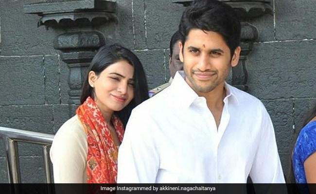 Samantha Ruth Prabhu And Naga Chaitanya Visit Venkateswara Temple Ahead Of Majili's Release