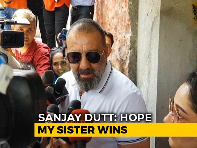 "Video : ""Always With Her"": Sanjay Dutt On Sister And Congress Candidate Priya Dutt"