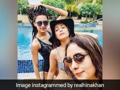 हिना खान ने स्विमिंग पूल में जमकर की मस्ती, दिखे सिक्स पैक ऐब्स- Photo हुईं वायरल