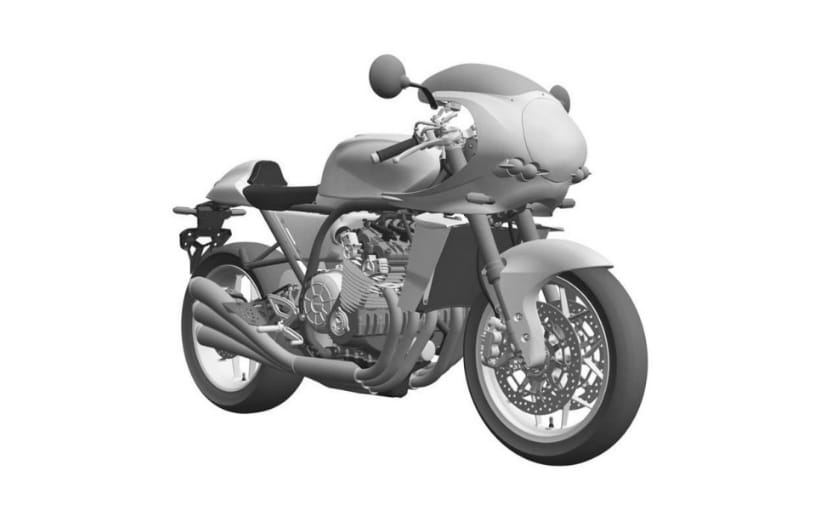 Honda has filed patents for a new cafe racer with an inline six-cylinder engine