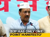 "Video : ""BJP Fulfilling Pakistan's Agenda,"" Says Arvind Kejriwal"