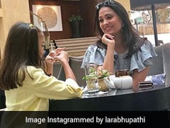 Lara Dutta's Tea Party Pic With Daughter Saira Sums Up 'Working Mom Life'