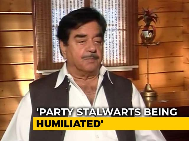 Video : Fear Psychosis In The BJP: Shatrughan Sinha To NDTV