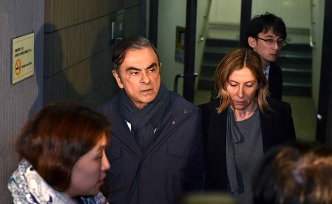 Former Nissan chairman Ghosn decries bail conditions limiting contact with his wife