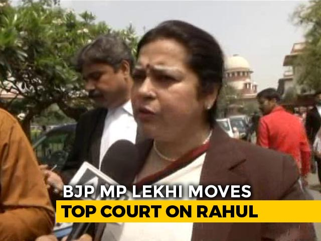 Video : BJP's Meenakshi Lekhi Sues Rahul Gandhi For Contempt Over Remarks On PM