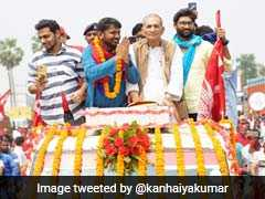 Debutant Kanhaiya Kumar Files Nomination From Bihar's Begusarai