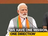 """Video : """"Will Take India On One Mission, One Direction"""": PM Launches BJP Manifesto"""