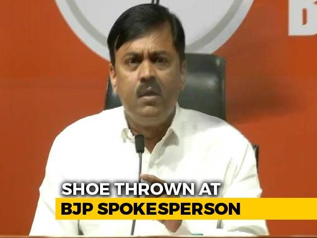 Video : Man Throws Shoe At BJP Leader GVL Narsimha Rao