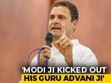 "Video : ""In Hinduism, Guru Is Supreme"": Rahul Gandhi Jabs PM Modi Over LK Advani"
