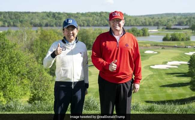 Amid Trade Talks Donald Trump Takes Golf Buddy Shinzo Abe For Rematch