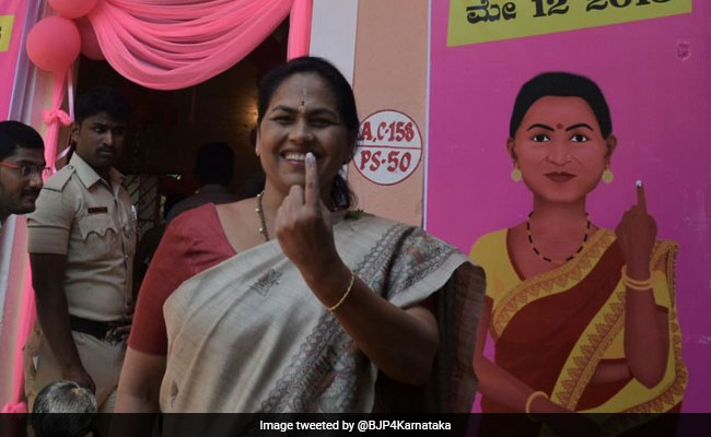 "Close To 400 ""All Women Pink Booths"" In Karnataka's 1st Phase Of Polling"