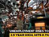 Video : India's Unemployment Rate Hits Highest Level In Two-And-A-Half Years: Think-Tank