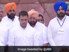 जलियांवाला बाग जनसंहार 100वीं बरसी : कांग्रेस अध्यक्ष राहुल गांधी और अमरिंदर सिंह ने श्रद्धांजलि अर्पित की