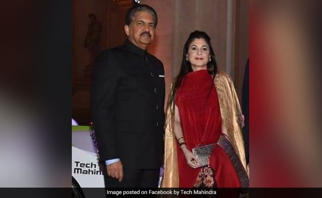 Anand Mahindra with know-it-all, Wife Anuradha Mahindra