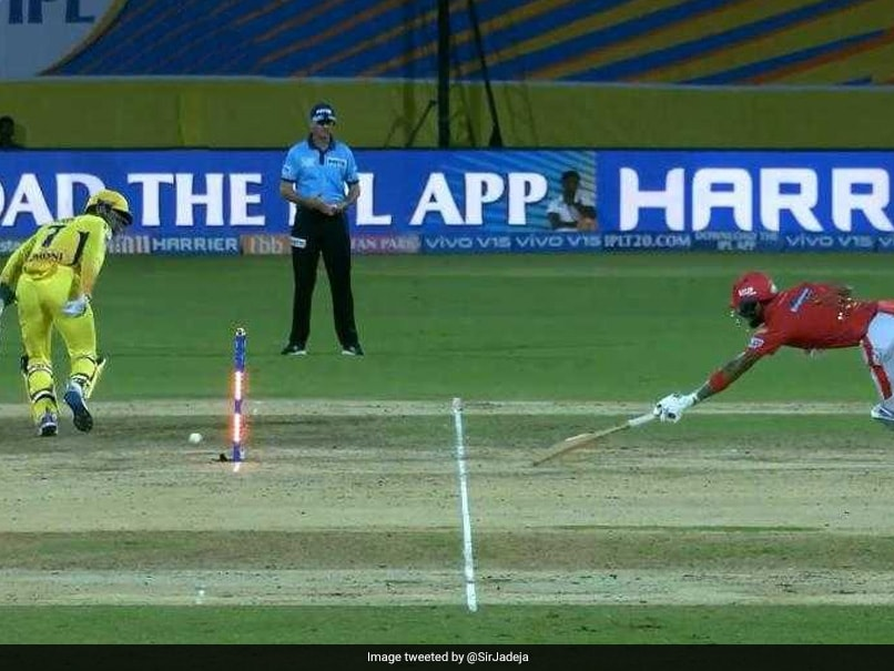 Watch: MS Dhoni Gets Unlucky With No-Look Throw, KL Rahul Survives