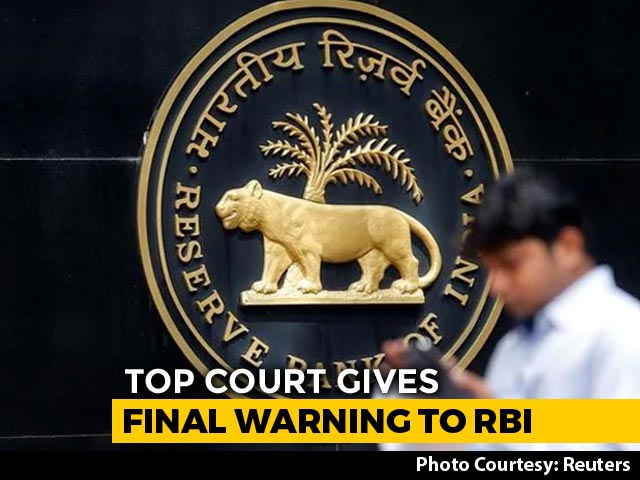 "Video : ""Last Chance"": Top Court Orders RBI To Disclose Bank Inspection Reports"