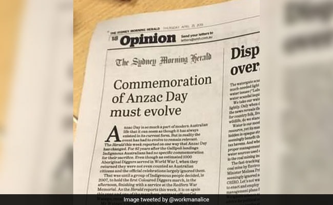 Australia's Daily Telegraph Prints Pages From Rival Sydney Morning Herald