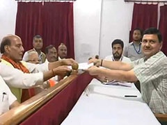 As BJP's Rajnath Singh Files Poll Papers In Lucknow, No Rival Yet