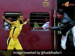 IPL 2019: इमरान ताहिर बने 'सिमरन', शाहरुख के पीछे लगाई दौड़ तो हुआ कुछ ऐसा, देखें VIDEO