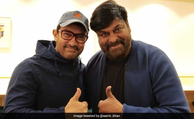 When Aamir Khan Ran Into His 'Favourite Actor' Chiranjeevi At The Kyoto Airport. See Pic