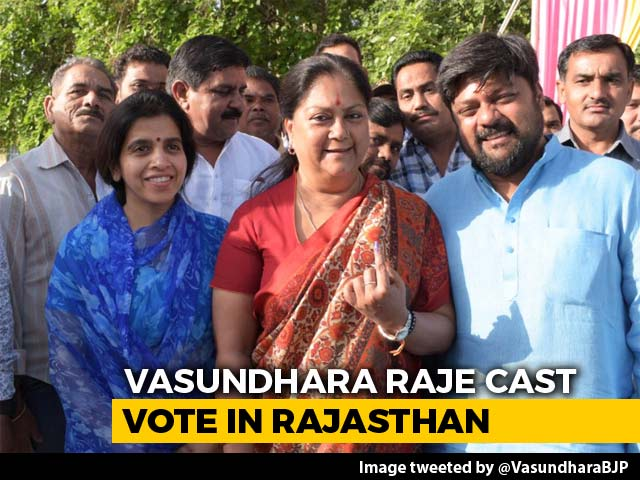 Video : Ex-Rajasthan Chief Minister Vasundhara Raje Votes As Phase-4 Polling Begins
