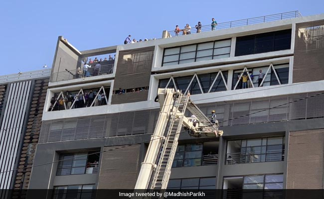 Over 100 Rescued From Fire At Multi-Storey Building In Ahmedabad