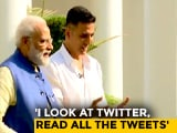 Video : PM Stumps Akshay Kumar With Mention Of His Wife Twinkle. She Reacts