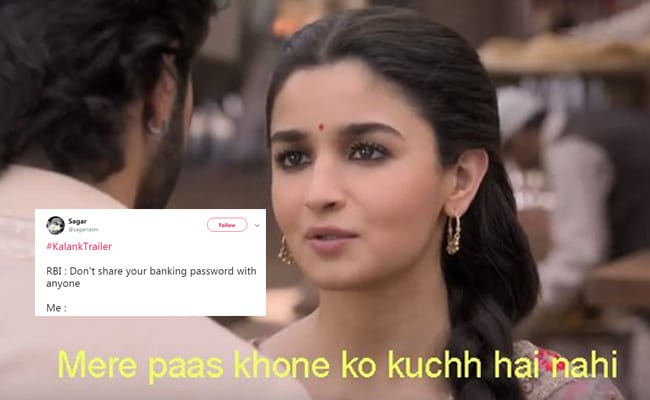 The Kalank Meme-Fest, Courtesy Twitter. Here Are The Funniest