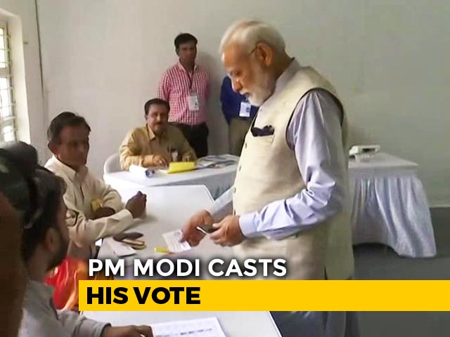 Video : PM Modi Votes In Ahmedabad, BJP Chief Amit Shah Accompanies Him