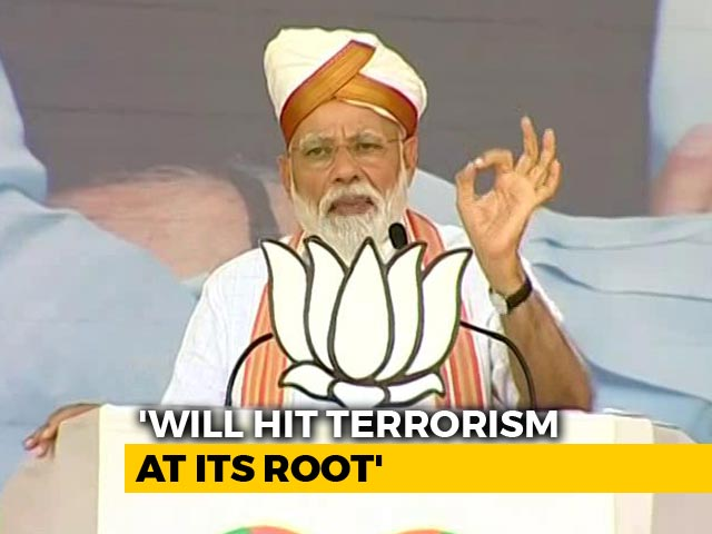 """Video : """"Eliminating Terrorists In Their Homes Is Policy Of New India"""": PM Modi"""